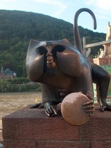 Monkey on the Old Bridge, Heidelberg: Elizabeth Whitten